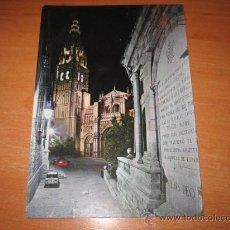 Postales: 1.474-TOLEDO CALLE TIPICA Y TORRE CATEDRAL JULIO DE LA CRUZ SUCESOR DE L.ARRIBAS. Lote 21432416