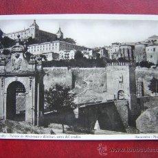 Postales: TOLEDO - PUENTE DE ALCANTARA Y ALCAZAR, ANTES DEL ASEDIO - POSTAL FOTOGRAFICA. Lote 21566460