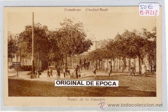 (PS-19212)POSTAL DE TOMELLOSO(CIUDAD REAL)-PASEO DE LA ESTACION (Postales - España - Castilla La Mancha Antigua (hasta 1939))