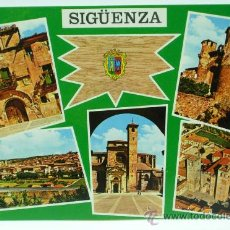Postales: POSTAL SIGÜENZA RECUERDO BELLEZAS DE LA CIUDAD 5 VISTAS FOTO FRANCISCO VACAS DÍAZ 1973 SIN CIRCULAR. Lote 22065431