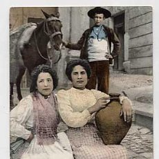 Postales: TOLEDO. DE VUELTA DE LA FUENTE. PURGER & CO. REVERSO SIN DIVIDIR. SIN CIRCULAR. Lote 23006338