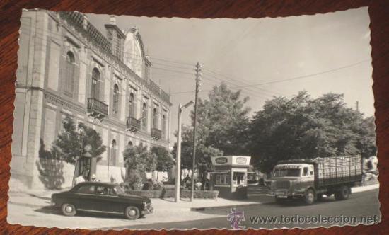 ANTIGUA FOTO POSTAL DE MANZANARES (CIUDAD REAL) GRAN TEATRO - Nº 12 GARRABELLA - CIRCULADA (Postales - España - Castilla La Mancha Antigua (hasta 1939))
