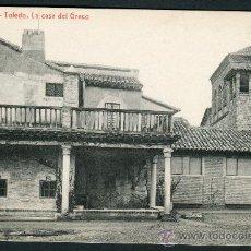 Postales: TOLEDO. LA CASA DEL GRECO. FOTOTIPIA THOMAS Nº 62. Lote 26562288