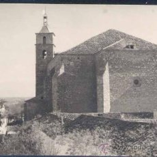 Postales: VILLANUEVA DE ALCARDETE (TOLEDO).- IGLESIA Y TORRE A VISTA DE PÁJARO. Lote 26119956