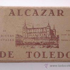 Postales: BLOC DE 21 TARJETAS POSTALES DE ALCAZAR DE TOLEDO, FOTOS DE JALON ANGEL Y HAUSER Y MENET. Lote 26861517