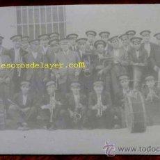 Postales: ANTIGUA FOTO POSTAL DE BANDA DE MUSICA DE ALGUN PUEBLO DE CIUDAD REAL (TOMELLOSO O VILLACAÑAS) - NO . Lote 29007699