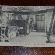 Postales: ANTIGUA POSTAL DE LA PANIFICADORA DE VALDEPEÑAS S.A. - CIUDAD REAL - APARATOS DE MOLINERIA - ED. CAS. Lote 29249993