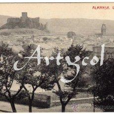 Postales: RARA POSTAL - ALMANSA (ALBACETE) - VISTA GENERAL . Lote 29342770