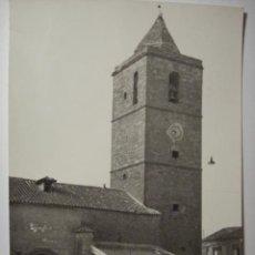 Postales: 5 MUNERA ALBACETE IGLESIA DE SAN SEBASTIAN - RARISIMA POSTAL AÑOS 1950 - . Lote 29639779