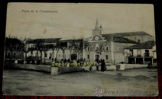 ANTIGUA POSTAL DE TORRIJOS, TOLEDO, PLAZA DE LA CONSTITUCION, NO CIRCULADA, ESCRITA. (Postales - España - Castilla La Mancha Antigua (hasta 1939))