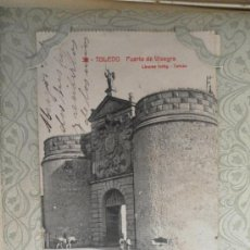 Postales: TARJETA POSTAL ANTIGUA. TOLEDO. PUERTA DE VISAGRA. 1912.. Lote 29801559