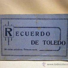 Postales: ALBUM DE FOTOS, POSTALES, POSTAL RECUERDO DE TOLEDO, GRAFOS, 20 VISTAS, COMPLETO. Lote 29833413