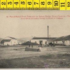 Postales: TARJETA POSTAL DE MORAL DE CALATRAVA FABRICA MANUEL MADRID PENOT HARINA ACEITE VINO CERAMICA BODEGA. Lote 30003746