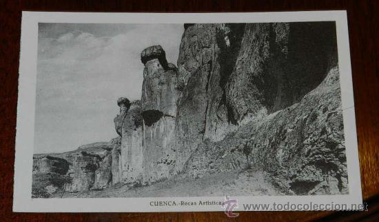 ANTIGUA POSTAL DE CUENCA, ROCAS ARTISTICAS, ED. L. ROISIN, NO CIRCULADA. (Postales - España - Castilla La Mancha Antigua (hasta 1939))