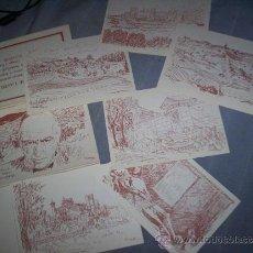 Postales: CARPETA 6 POSTALES DIBUJOS VISTAS SIGÜENZA EVOCADAS X ORTEGA Y GASSET. GUADALAJARA PEDRO PINTO 1984. Lote 30231600
