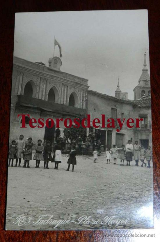 ANTIGUA FOTO POSTAL DE JADRAQUE (GUADALAJARA) PLAZA MAYOR - ED. ALSINA Nº 3 - SIN CIRCULAR (Postales - España - Castilla La Mancha Antigua (hasta 1939))