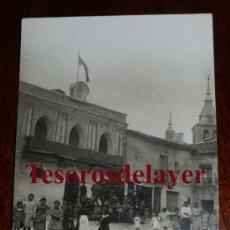Postales: ANTIGUA FOTO POSTAL DE JADRAQUE (GUADALAJARA) PLAZA MAYOR - ED. ALSINA Nº 3 - SIN CIRCULAR. Lote 53331858