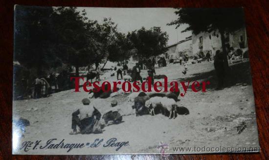 ANTIGUA FOTO POSTAL DE JADRAQUE (GUADALAJARA) EL PEAGE - ED. ALSINA Nº 7 - SIN CIRCULAR (Postales - España - Castilla La Mancha Antigua (hasta 1939))