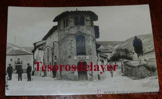 ANTIGUA FOTO POSTAL DE JADRAQUE (GUADALAJARA) CALLE DE BIBIANO CONTRERAS - ED. ALSINA Nº 6 - SIN CIR (Postales - España - Castilla La Mancha Antigua (hasta 1939))