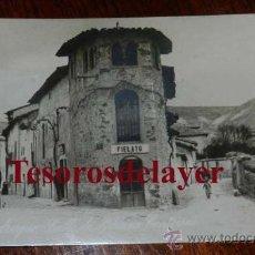 Postales: ANTIGUA FOTO POSTAL DE JADRAQUE (GUADALAJARA) CALLE DE BIBIANO CONTRERAS - ED. ALSINA Nº 6 - SIN CIR. Lote 53331838