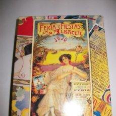 Postales: POSTALES CON LOS CARTELES DE LA FERIA DE ALBACETE – DESDE 1910 A 2010 – TERCER CENTENARIO . Lote 30388219