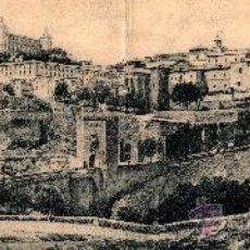 Postales: PANORÁMICA (26,5 X 9 CM) TOLEDO, PUENTE DE ALCÁNTARA Y ALCÁZAR, GRAFOS MADRID, S/C. Lote 30681258