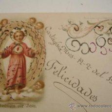Postales: SANTO CON PURPURINA 1910. Lote 31163961