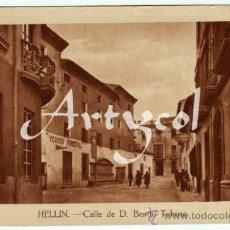 Postales: MAGNIFICA POSTAL - HELLIN (ALBACETE) - CALLE DE D. BENITO TOBOSO - FACHADA DEL TEATRO PRINCIPAL . Lote 31204027