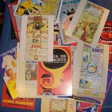 Postales: POSTALES CARTELES FERIA DE ALBACETE (105 POSTALES), COLECCION COMPLETA. Lote 100499068