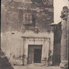 Postales: ALCARAZ (ALBACETE).- ANTIGUA CASA SEÑORIAL. Lote 31709541