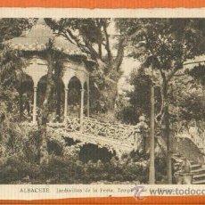 Postales: ALBACETE - JARDINILLOS DE LA FERIA TEMPLETE DE LA MÚSICA - SIN EDITOR. Lote 31920463