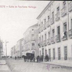 Postales: ALBACETE.- CALLE DE TESIFONTE GALLEGO. Lote 32040116