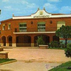 Postales: AZUQUECA DE HENARES Nº 1 AYUNTAMIENTO ESCRITA CIRCULADA SELLO AÑOS 70. Lote 32065834