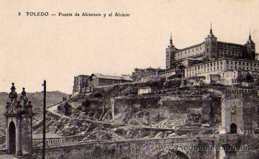 TOLEDO Nº 8 PUENTE DE AL CÁNTARA Y EL ALCÁZAR SIN CIRCULAR (Postales - España - Castilla La Mancha Antigua (hasta 1939))