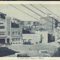 Postales: ALBACETE.- PLAZA DEL CAUDILLO. Lote 32578565