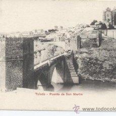 Postales - Toledo - Puente de San Martín. P.Z. 10206. Reverso sin dividir Sin circular - 32594326