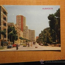 Postales: POSTAL ALBACETE AVENIDA RODRIGUEZ ACOSTA ESCRITA. Lote 32651192