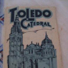 Postales: CUADERNO CON 20 POSTALES ANTIGUAS DE LA CATEDRAL DE TOLEDO.. Lote 32798764