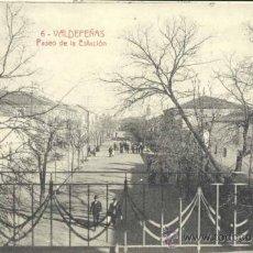 Postales: VALDEPEÑAS (CIUDAD REAL).- PASEO DE LA ESTACIÓN. Lote 33218979