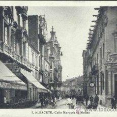 Postales: ALBACETE.- CALLE MARQUÉS DE MOLINS. Lote 33234968