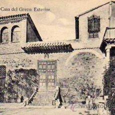 Postales: TOLEDO Nº 28 CASA DEL GRECO EXTERIOR SIN CIRCULAR . Lote 33493531