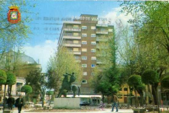 CIUDAD REAL Nº 5 PLAZA DEL PILAR AÑO 1969 ESCRITA CIRCULADA SELLO (Postales - España - Castilla la Mancha Moderna (desde 1940))