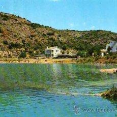 Postales: LAGUNAS DE RUIDERA LAGUNA REDONDILLA Y HOTEL EL MOLINO F.I.T.E.R. CIRCULADA SELLO AÑO 1974. Lote 33528528
