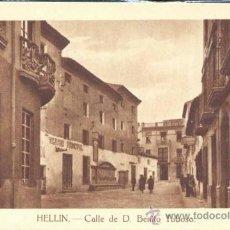 Postales: HELLIN (ALBACETE).- CALLE DE D. BENITO TOBOSO. Lote 34526075