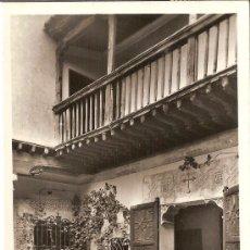Postales: TOLEDO, CASA DEL GRECO, DETALLE DEL PATIO - MANIPEL - CIRCULADA 1959. Lote 34675383