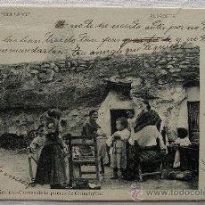 Postales: (CM-19) ALBACETE. CUEVAS DE LA PUERTA DE CHINCHILLA. CIRCA 1904. REVERSO SIN DIVIDIR.. Lote 34956736