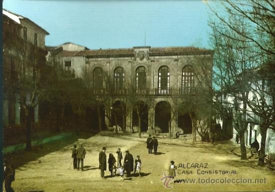 POSTAL ALCARAZ, CASA CONSISTORIAL, ED. FOTO LOPEZ, SIN CIRCULAR (Postales - España - Castilla la Mancha Moderna (desde 1940))