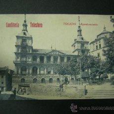 Postales: POSTAL DE TOLEDO - AYUNTAMIENTO - PUBLICIDAD CONFITERIA TELESFORO - AÑOS 20, LEER DESCRIPCION. Lote 36389148