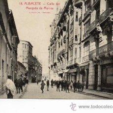 Postales: ALBACETE. 18 CALLE MARQUES DE MOLINS. ROISIN. Lote 36574566