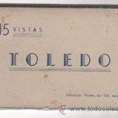Postales: 15 VISTAS DE TOLEDO. CUADERNILLO EN . EL CUADERNILLO CERRADO MIDE 10,4 X 6,5 CMS. Lote 37234177